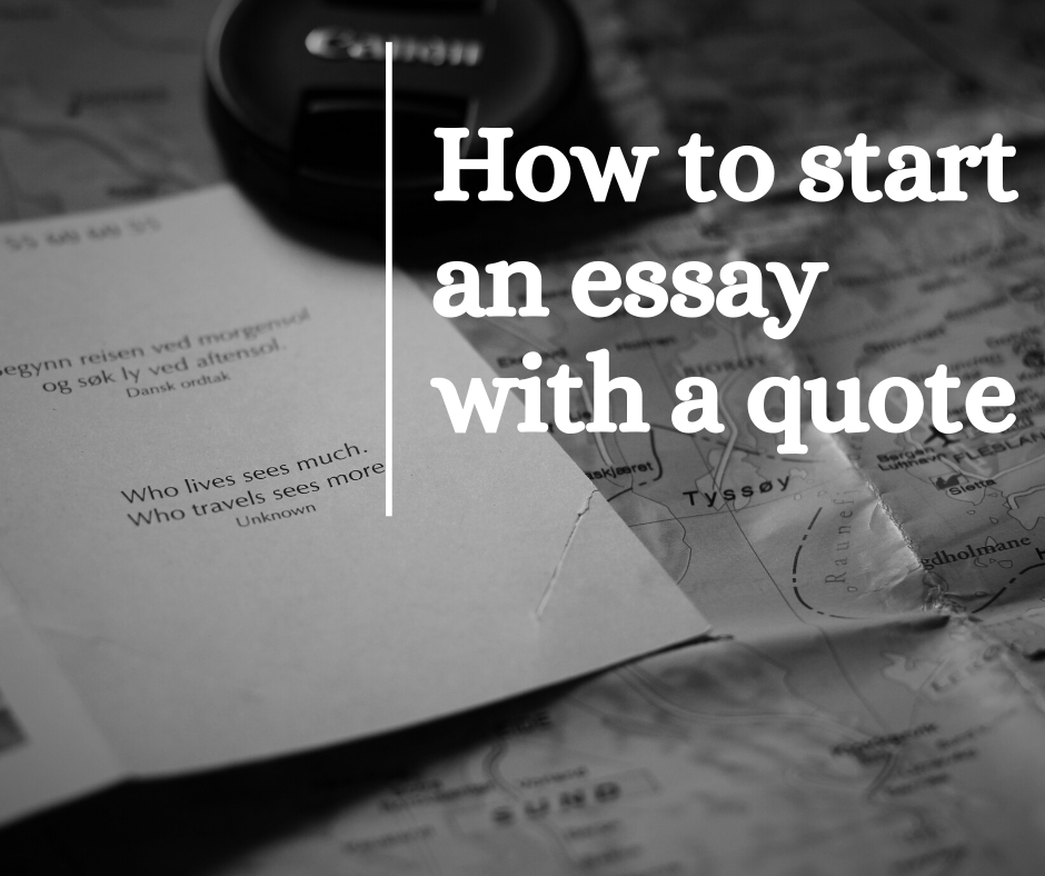 Your Impressive Guide to Starting an Essay with a Quote